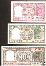 B.N.Adarkar India Gandhi Back Signature Set 2-5-10 @Unc Cond(B-10 / C-11 / D-13)