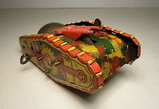 Marx Prewar Camouflaged Army Tank / Train Windup 1940 Wyandotte