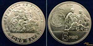 2014 PHILIPPINES 5 PESO BAGONG BAYANI UNC BI-METALLIC KM#286 UNC COIN