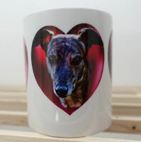 Greyhound Mug Brindle Hounds Hearts Mothers Day Gift  % to Greyhound Charity
