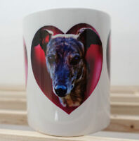 Dog Mug 1 x Brindle Greyhounds Mug, Hearts & Brindles Mothers Day % to charity