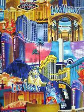Fat trimestre ca $ino royale Las Vegas Strip quilting Tissu-benartex