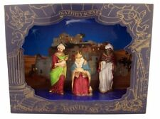Painted Resin The Three Wise Men Tabletop Scene Figurine Set, 3 Inch