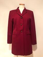 Pendleton 100% Wool Burgundy Long Jacket Coat Size 10 MINT
