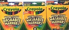3 pack Crayola Washable Markers - Total 24 markers - New