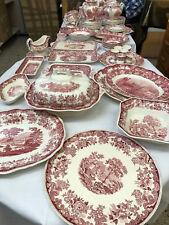 SPODE Rihne England englisches Porzellan  Palissy Pottery  Speiseservice 85 tlg