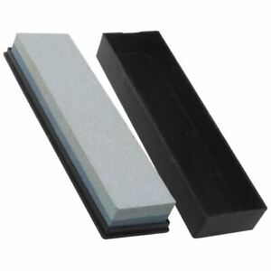 Double Sided Knife Sharpening Wet / Oil Stone Block Storage Box Tool Blade Sharp