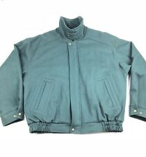 Pendleton Mens Large Jacket Classic Virgin Wool Green Bomber Thinsulate