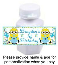 30 Despicable Me Boy Minions Birthday Party Baby Shower Mini Bubble Stickers