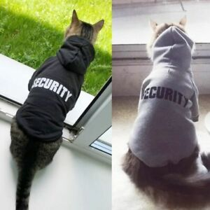 Cat Clothes Pet Coats Security Jacket Hoodies Outfit Warm Clothing Rabbit Animal