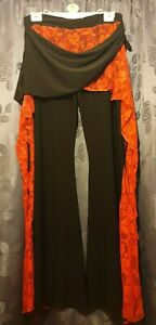 Tribal Fusion Belly Dance Black And Red Trousers