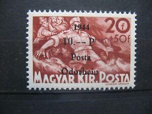 1944 Rumänien - Ungarn-Posta-Odorheiu 20+50/10