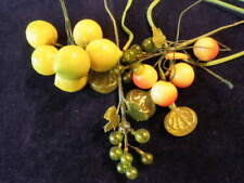 "Vintage Millinery Flower Fruit Collection 1/4-1"" Yellow Green w/Glass H2089"