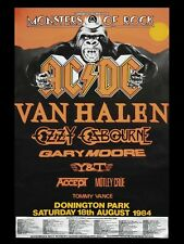 "ACDC / Van Halen Donnington 16"" x 12"" Reproduction Concert Poster"
