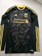 More details for liverpool fully signed 2010-2011 22 signatures 3rd strip