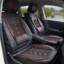 1x PU Leather Auto Car Seat Cover Cushion Back Support Waist Massage Universal