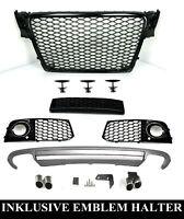 Pour Audi A4 B8 08-12 RS4 Regardez Calandre Nid D'Abeille + S4 Diffuseur D