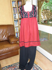 ENSEMBLE ETHNIQUE INDIEN tunique + pantalon T S ETTHNIC SUIT TUNIC TOP & PANTS