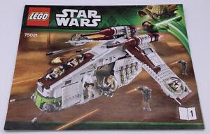 Lego Star Wars 75021 Instruction Manual 1 & 2 Booklet Only Republic Gunship