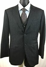 Canali Men's Size US 38s / EU 48s Super 120's 3 Pc Pinstripe Luxury Suit