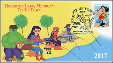 17-056, 2017, Tip-up Town, Houghton Lake MI, Super Heroes, Pictorial event cover