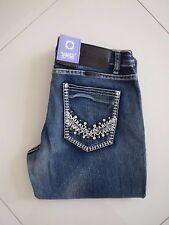 Outback/ Wild Child -  Ladies Bling Mid Rise Bootleg Stretch Jeans - Size Aus 16
