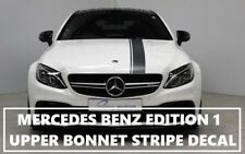 AMG EDITION 1 C63 STRIPE BLACK DECAL STICKER UPPER BUMPER BONNET ROOF & TAILGATE