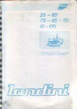 Landini Crawler Tractor Trekker 55 60 75 85 95 (C - CF) Operators Manual