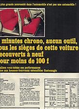 PUBLICITE 1966  CUSTOMAGIC  housse de voitures