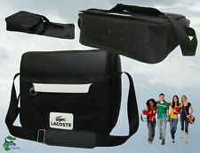 LACOSTE MESSENGER Unisex Shoulder BAG New Retro Sport 20 Black AUTHENTIC