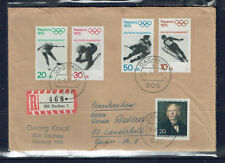Germany Berlin 1971 Registered Cover Olympics-Dachau CDs-Addressed-Used