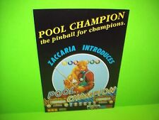 Zaccaria POOL CHAMPION Original 1985 Flipper Game Pinball Machine Flyer Rare