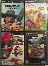 PS2 Power Rangers Super Legends Red Dead Revolver Activision Anthology Barbie