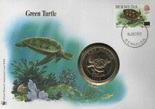 WWF Bermuda 1986  Fdc Coin Cover Turtles