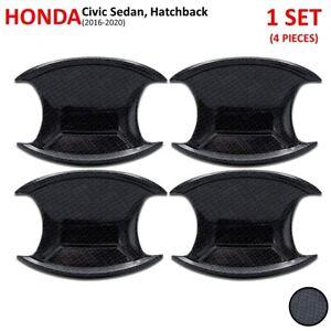 Carbon Bowl Insert Handle Hand Cover Fits Honda Civic Sedan Hatchback 2016 2020