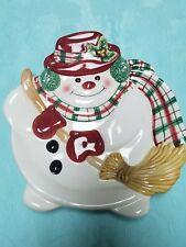 Fitz & Floyd Snowman Canape plate