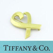 Nyjewel Tiffany & Co. 18K Oro Amarillo Paloma Picasso Corazón Amoroso Broche
