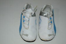 PUMA  ASTRO TURF FOOT BALL  BOOTS - UNISEX - BLUE SILVER & WHITE   -  UK  7