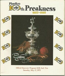 1975 - 100th Preakness Stakes program - Ex.Con - MASTER DERBY