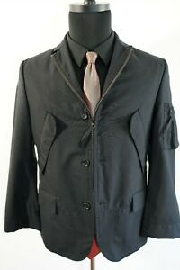 Junya Watanabe Bomber (XS) Black Twill Wool Flight Jacket