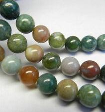 New 8mm Multicolor Natural India RARE Agate Onyx  Gemstone Loose Bead 15''