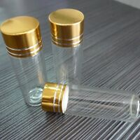 10pcs 22x50mm Tiny Small New Empty Clear 10ml Bottles Glass Vials With Screw Cap