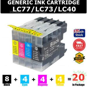 20X Ink LC40 LC73 LC77 LC1240 LC1280 XL for Brother MFC-J430W J432W J625DW J825D