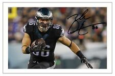 ZACH ERTZ PHILADELPHIA EAGLES SIGNED PHOTO AUTOGRAPH PRINT NFL FOOTBALL