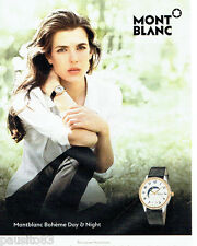 PUBLICITE ADVERTISING 056  2015  Mont blanc montre Bohème Charlotte Casiraghi