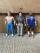 """Vintage 1983 The A-Team 6"""" Figures Murdoch Face Mr T Cannell"""