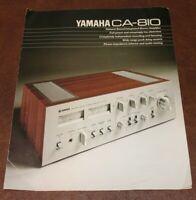 Yamaha CA-810 Integrated Amplifier Original Sales Brochure