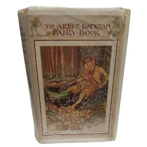 Arthur Rackham Fairy Tales 1975. Hardback ex library. Dustcover book protector..
