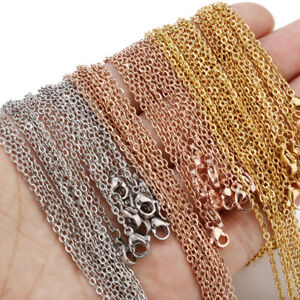 10pcs/lot Stainless Steel Gold 1.5mm 2mm Necklace Chains for DIY Jewelry Making