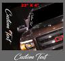 CUSTOM TEXT Script VERTICAL Decal Sticker Windshield Vinyl Side Car Truck jdm